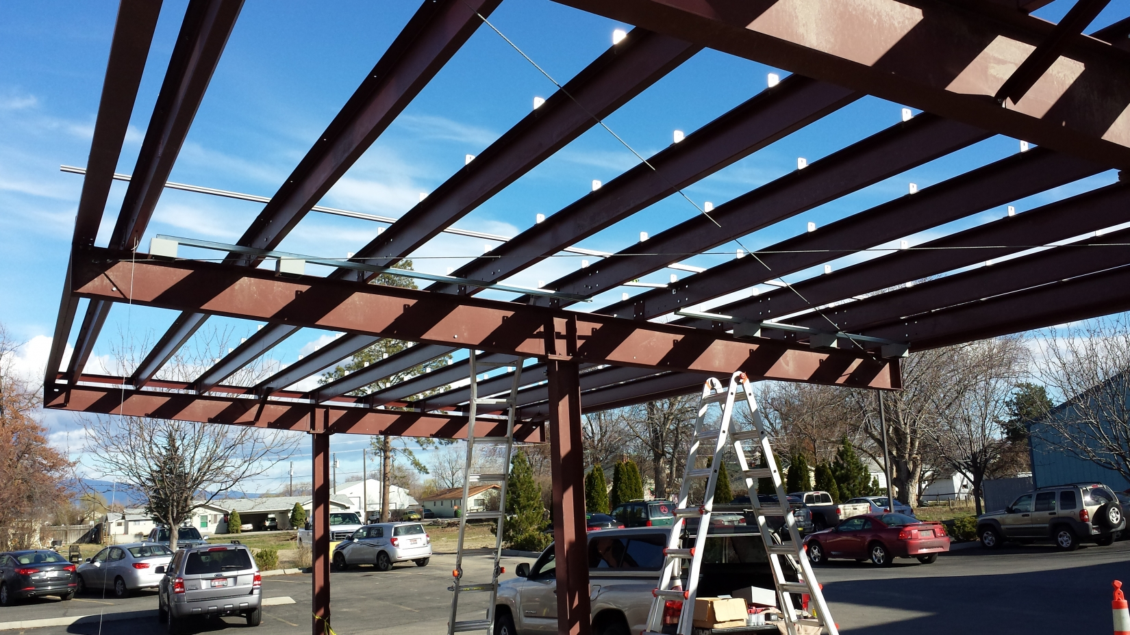 Steel Carports Amp Solar Structures Pascal Steel Buildings