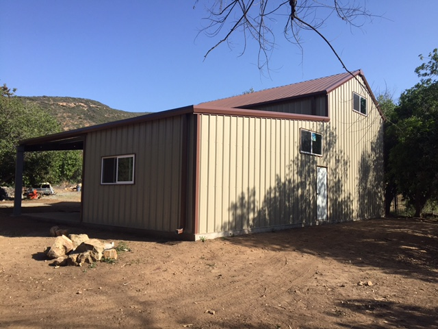 Pre engineered garage spring valley pascal steel buildings for Pre engineered garage