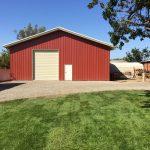 Pre-engineered Metal Barn / Garage Building erected in Newport Beach, CA by Pascal Steel
