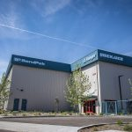 Front of BendPak Pre-engineered Steel Warehouse