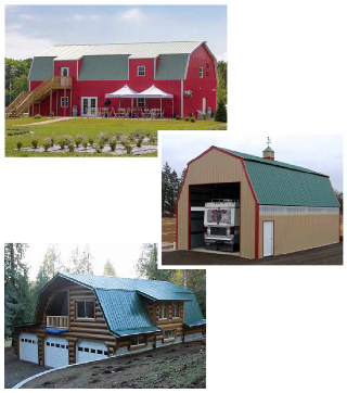 Gabel and Lean-To Buildings from SimplyTough Metal Buildings
