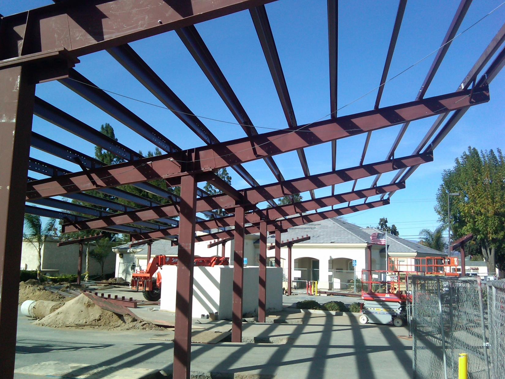 Steel Pergola With Canopy
