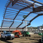 Pre-Engineered Metal Buildings - Fitness Center - Under Construction - Beams