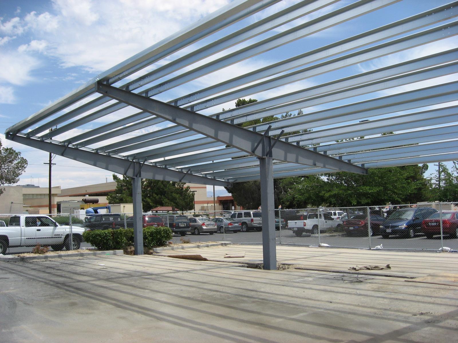Metal Carport Structures : Steel carports solar structures pascal buildings