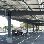 Solar Canopy - Apple Valley - View From Underneath