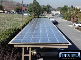 Steel Carport with Solar Panels