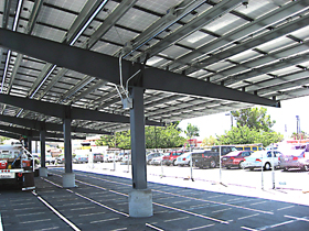 Solar Carport Steel Structure