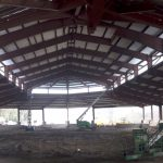 Pre-Engineered Metal Buildings - Fitness Center - Inside - Under Construction