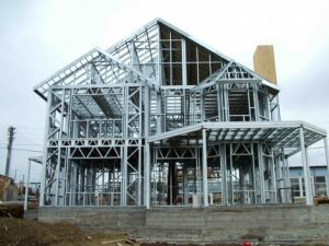 Steel framed house