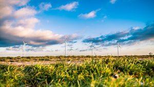 sustainable steel landscape windmills