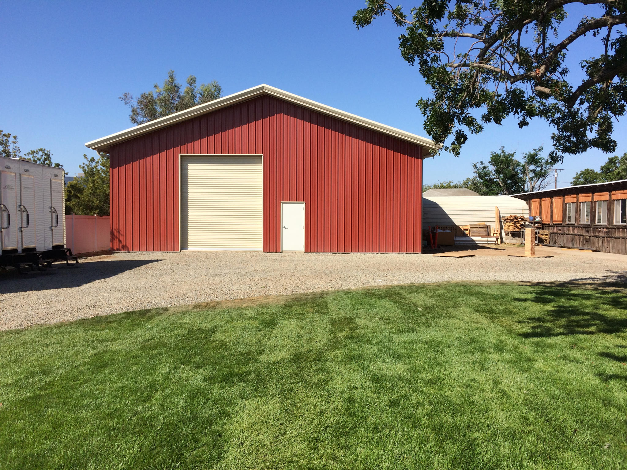 Pre-engineered Metal Barn / Garage Building erected in Newport Beach, CA by Pascal Steel