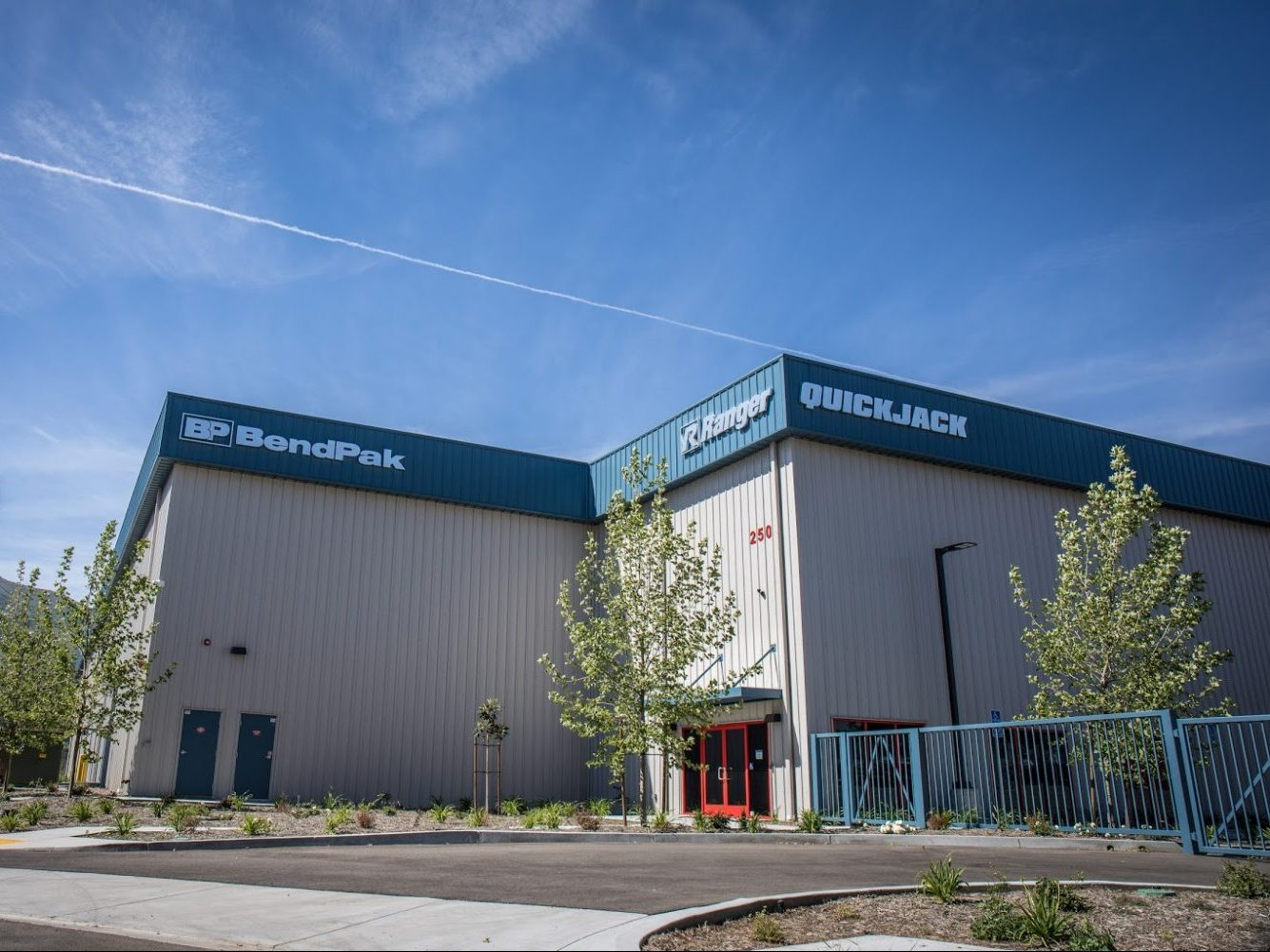 Front of BendPak Pre-engineered Steel Warehouse