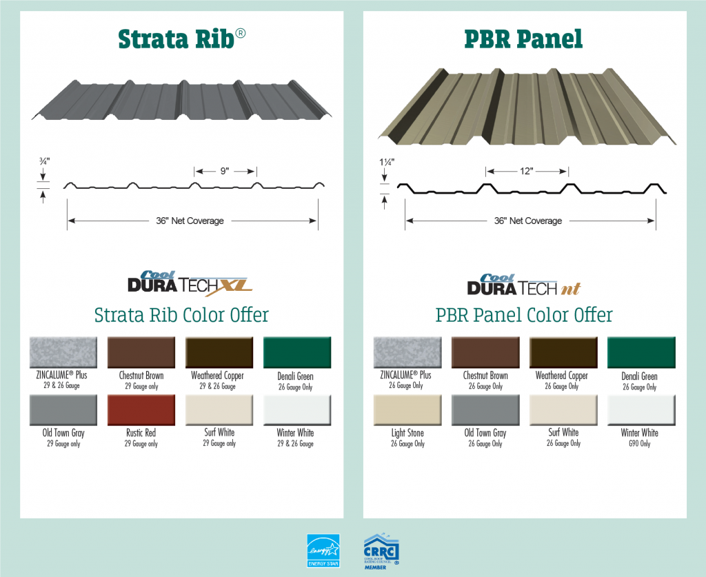 SimplyTough Metal Buildings Color Chart
