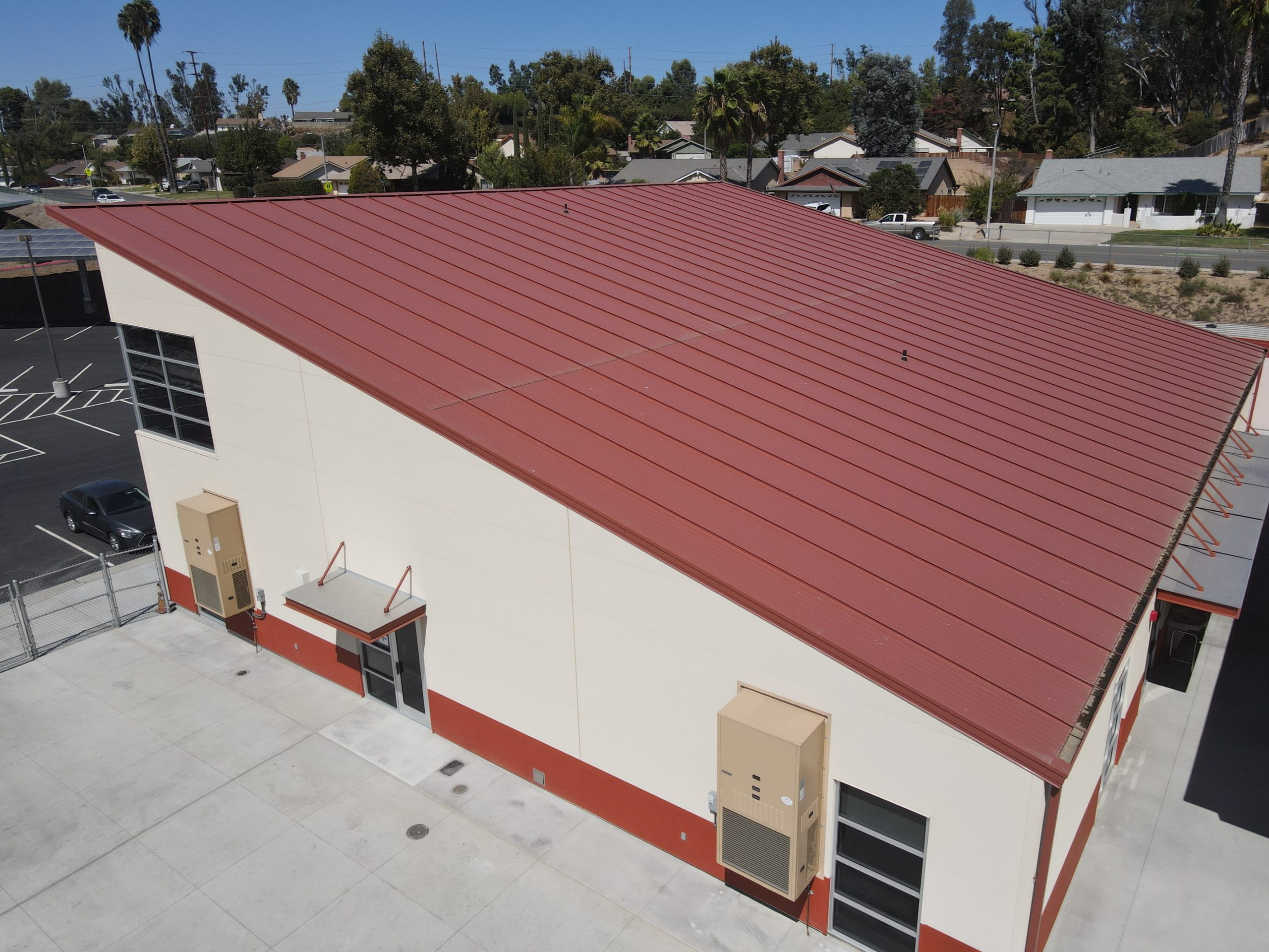 6,844 square feet of insulated roofing panels in a Terra Cotta finish