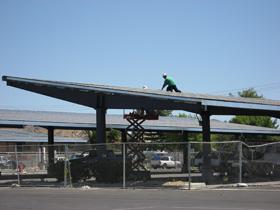 No Roof Panel Carport Design for Solar