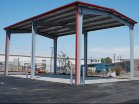 Steel Canopy - Recycling Center